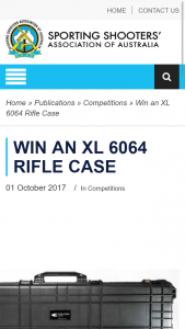 SSAA – Win an Xl 6064 Rifle Case (prize valued at $369)