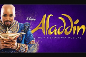 Channel 7 – Sunrise –  Win a chance to be at Sunrise's broadcast Aladdin at Her Majesty's Theatre