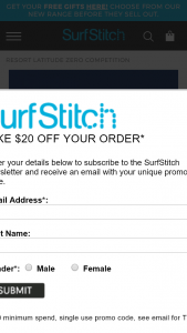 Surfstitch – Win a Trip to The Telo Islands (prize valued at $10,000)