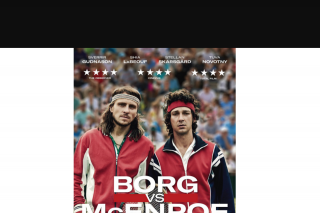 Sweepon – Win 1 of 15 Double Passes to Borg Vs Mcenroe (prize valued at $600)
