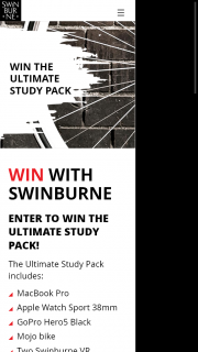 Swinburne University – Win The Ultimate Study Pack