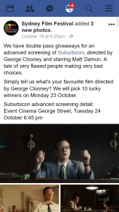 Sydney Film Festival – Win Suburbicon Preview Double Passes Sydney