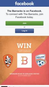 The Barracks – Win 4 Tickets to Brisbane Roar Vs Adelaide United