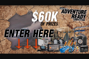 The Offroad Aventure Show – Win Your Share of Over $60000 In Prizes Included a Brand New Offroad Caravan From Our Mates at Ezytrail (prize valued at $37,500)