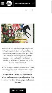 The Weekly Review – Win a Spring Racing Pack Including Shopping Spree (prize valued at $8,000)
