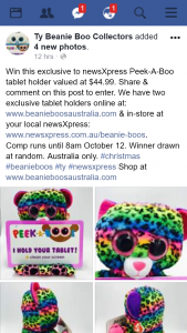 Ty beanie boo collectors – Win this Exclusive to Newsxpress Peek-A-Boo Tablet Holder Valued at $44.99. (prize valued at $44.99)