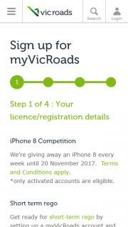 Vic Roads – Win 1/4 Iphone 8s Weekly Winners)-