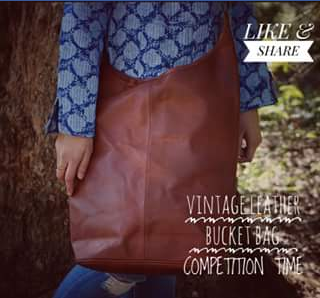 Vintage Leather FB – Win Our Most Popular Vintage Leather Bucket Bag&#10084