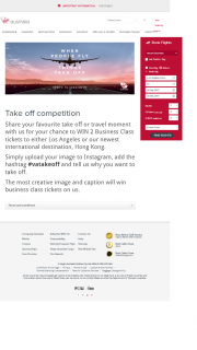 Virgin Australia – Win 2 Business Class Tickets to Either Los Angeles Or Our Newest International Destination