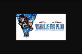 Visa Entertainment – Win 1 of 5 Valerian and The City of a Thousand Planets DVDs