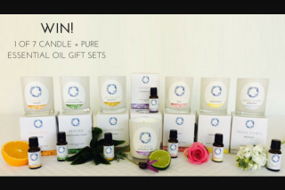 Wellbeing Magazine – Win 1 of 7 Candle Pure Essential Oil Gift Sets (prize valued at $60)