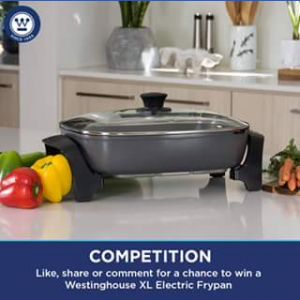 Westinghouse Small Appliances – Win a Westinghouse Stone Finish Xl Electric Frypan Courtesy of Westinghouse Small Appliances (model