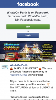 What's on Perth – Win One of Twenty Double Passes to Hudsons Circus