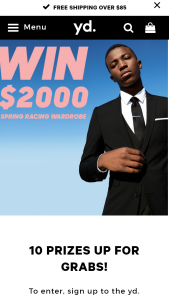 YD – Win Gift voucher valued at $2,000 (prize valued at $20,000)