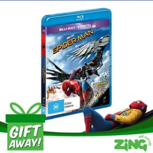Zing Pop Culture – Win One of Five Copies of Spider Man Homecoming on Bluray
