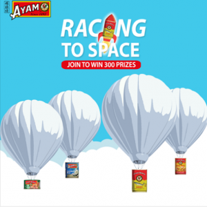 A. Clouet – AYAM Racing to Space – Win 1 of 300 AYAM Gift Boxes
