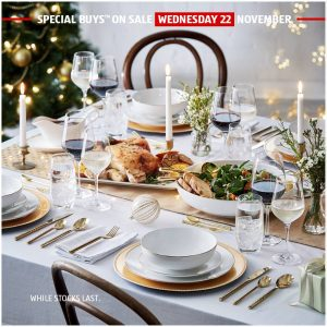 ALDI Australia – Christmas Tableware – Win everything you need to serve it up in style