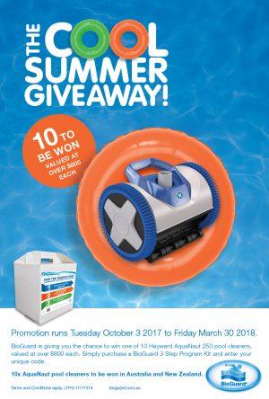BioGuard – Australia/New Zealand – Win 1 of 10 Hayward AquaNaut 250 pool cleaners valued at $800 each