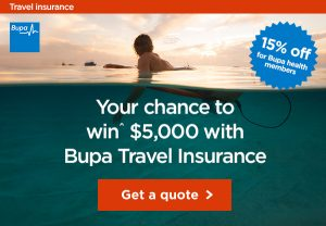 Bupa – Travel Insurance – Win a $5,000 cash prize