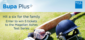 Bupa – Win 1 of 5 prizes of 5 tickets to the Megallan Ashes Test Series