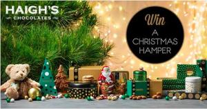 Haigh's Chocolates – Win a Christmas Hamper valued at $150