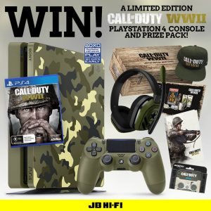 JB Hi-Fi – Win a Call of Duty WWII Limited Edition Playstation 4 Console prize pack valued at $767