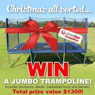 jumpstar trampolines christmas all sorted win a ju australian competitions. Black Bedroom Furniture Sets. Home Design Ideas