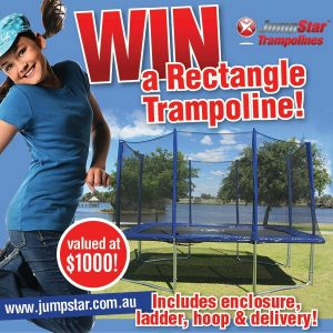 JumpStar Trampolines – Win a Rectangle Trampoline valued at $1,000