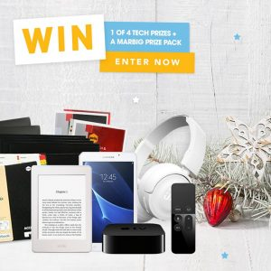 Marbig – Win 1 of 4 Tech prizes valued at $874