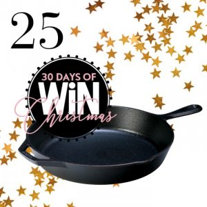Mind Food – 30 Days Of Christmas – Day 25: Win 1 of 2 Lodge Cast Iron Skillets cookware valued at over $159 each