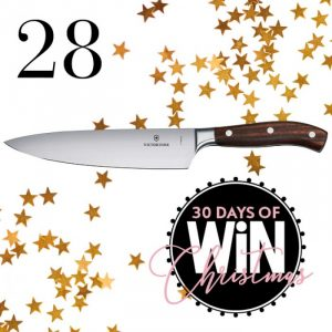 Mind Food – 30 Days Of Christmas – Day 28: Win a Victorinox Grand Maitre Chef's knife valued at $315 each