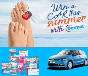 Nice Pak Products – Dermal Therapy – Win a new Volkswagen Polo Urban 6 Speed Manual 5 Dr base model valued at $15,000