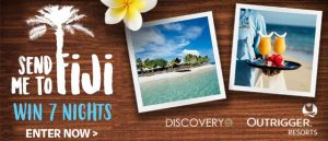 Outrigger Resorts – Win a trip for 2 to Fiji valued at up to AU$14,700