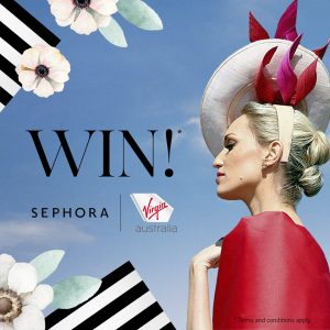Sephora Australia – Win a prize package of 2 return economy class tickets to any where on the Virgin Australia Domestic Network & a $500 Sephora products