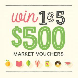 South Melbourne Market – Win 1 of 5 South Melbourne Market vouchers valued at $500 each