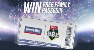 Weet-Bix – KFC Big Bash League Family Pass – Win 1 of hundreds of Family Passes  of 4 to the BBL