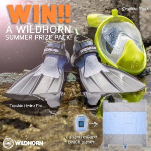 Wild Earth – Win a pair of Topside Hydro Fins, a Seaview 180 Full Face Snorkeling Mask & a Sand Escape Beach Blanket