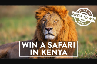 African Wildlife Safaris – Win an Unforgettable 8-night (2 Nights In-Flight) Kenya Safari for 2 People Valued at $25999. (prize valued at $25,999)