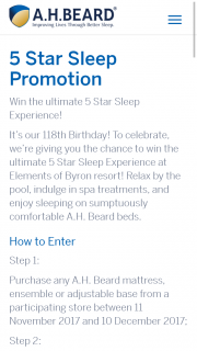 AH Beard Sleep Bedding – Participating stores buy an eligible bedding product – Win Prize(s) Will Be Awarded to The Valid Entry (prize valued at $1)
