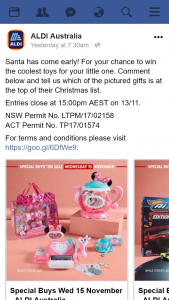 Aldi Australia – Win The Coolest Toys for Your Little One