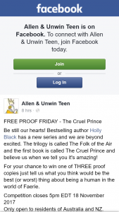 Allen & Unwin Teen – Win One of Three Proof Copies Just Tell Us What You Think Would Be The Best (or Worst) Thing About Being a Human In The World of Faerie