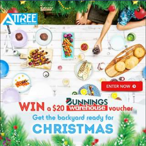 Attree Real Estate – Win a $20 Bunnings Warehouse Voucher to Get The Bbq Firing Up and Backyard Ready for an Amazing X'mas