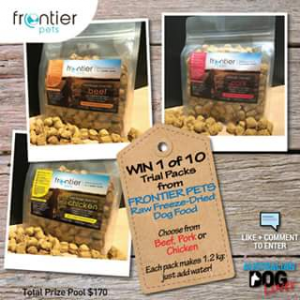 Australian Dog Lover – Win One of Ten Trial Packs of Frontier Pets Raw Freeze Dried Dog Food