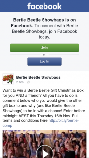 Bertie Beetle – Win a Bertie Beetle Gift Christmas Box for You and a Friend (prize valued at $118)