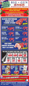 Big Gun Wholesale Meats Underwood – Win 1 of 2 $100 Vouchers (prize valued at $200)