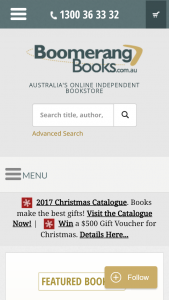 Boomerang books – Win a $500 Gift Voucher this Christmas (prize valued at $500)