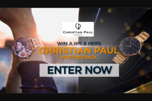 Channel 7 – Sunrise – Win a Christian Paul Watches 'his and Hers' Prize Pack (prize valued at $500)