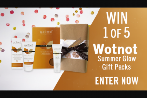 Channel 7 – Sunrise – Win One of Five Wotnot Summer Glow Packs (prize valued at $350)