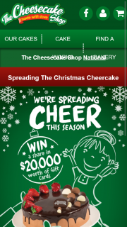 Cheesecake Shop – Win a Share of $20000 In Cheesecake Gift Cards (prize valued at $20,000)