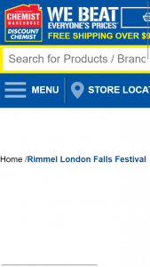 Chemist Warehouse Spend $20 or more on any RIMMEL LONDON products to – Win & The Prizes (prize valued at $1,920)